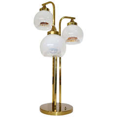 MAZZEGA TABLE LAMP - ITALIAN GLASS GLOBES