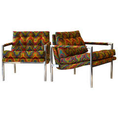 HARVEY PROBBER ALUMINUM LOUNGE CHAIRS