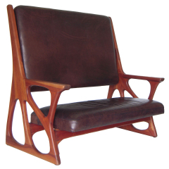 Studio Crafted Settee in Buffalo Leather