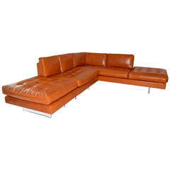 Vladimir Kagan Leather Sectional Sofa
