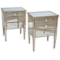 Mirrored French Night Stands