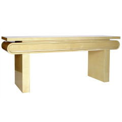 ALDO TURA CONSOLE TABLE IN GOATSKIN