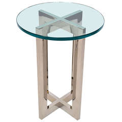 KARL SPRINGER ATT. SIDE TABLE